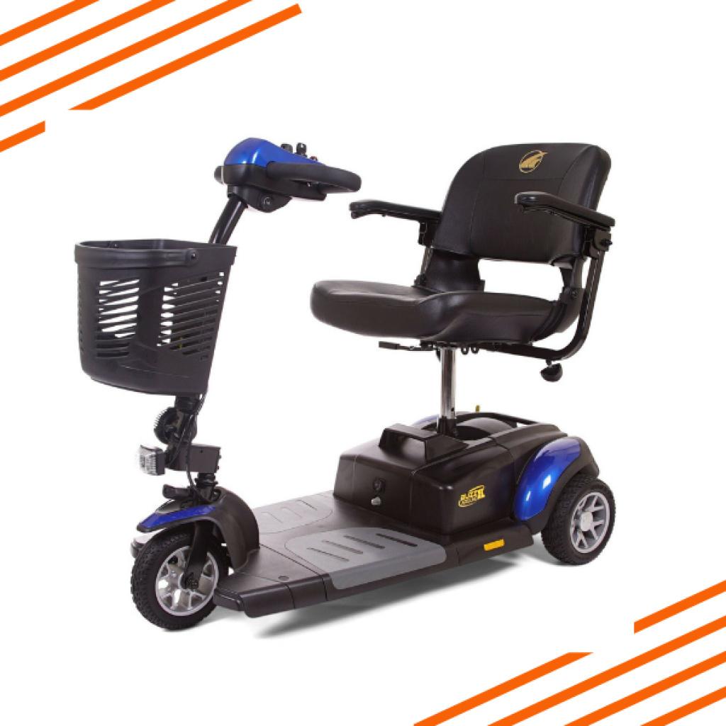 Buzzaround XL 3 Wheel Scooter Blue
