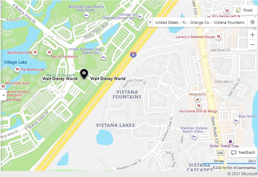 Disney World Entrance Map