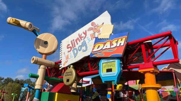 Disney's Slinky Dog Dash Roller Coaster Ride is the next place you can go on your powerchairs rental