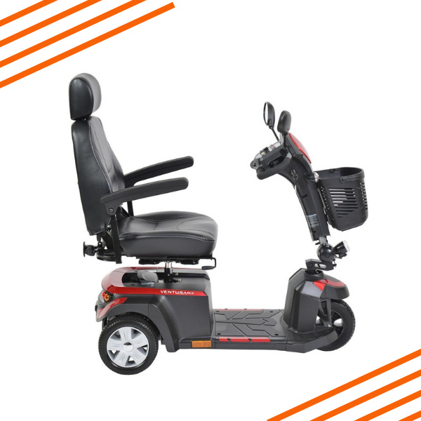 Ventura 3 DLX Three Wheel Mobility Scooter Side