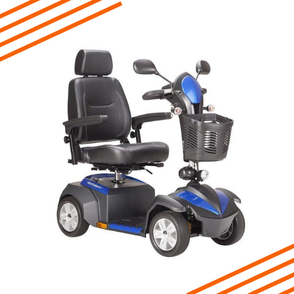 Ventura 4 DLX Four Wheel Mobility Scooter Blue
